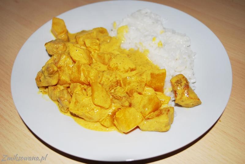 curry z dyni i kurczaka