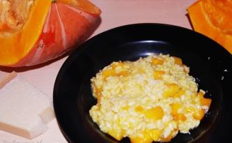 risotto z dynią i parmezanem