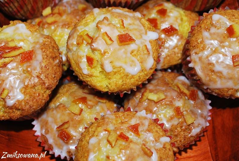 muffinki pomarańczowe z lukrem pomarańczowym