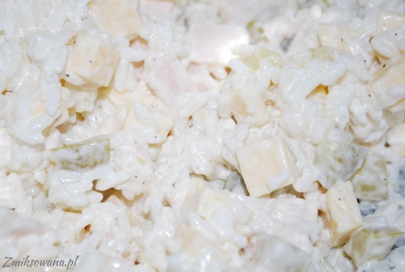 sałatka z ryżem i serem