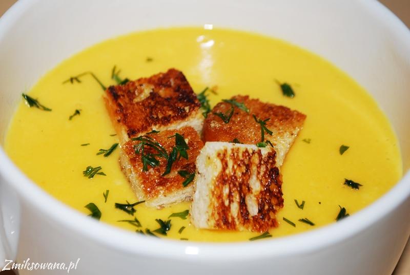 zupa serowa z cheddarem