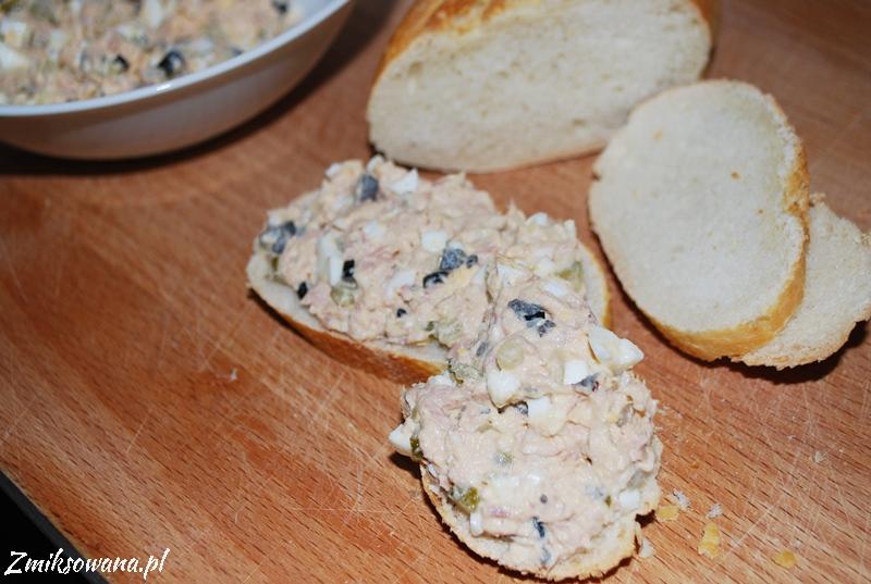 pasta z tuńczyka z jajkiem