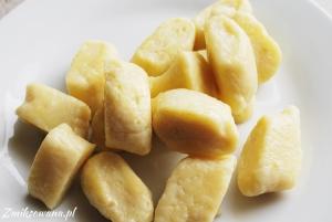 kopytka z serem białym