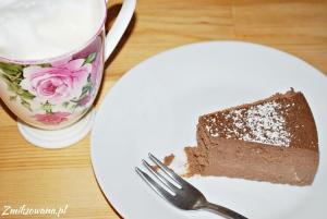 Sernik kawowy z czekoladą