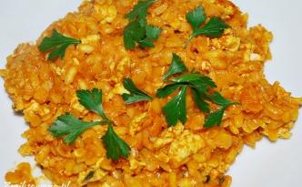 Zapiekanka ryżowa z mięsem mielonym i soczewicą