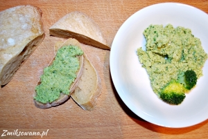 Pasta z brokułów i jajek