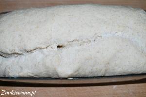 Wyrośnięty pszenny chleb na drożdżach