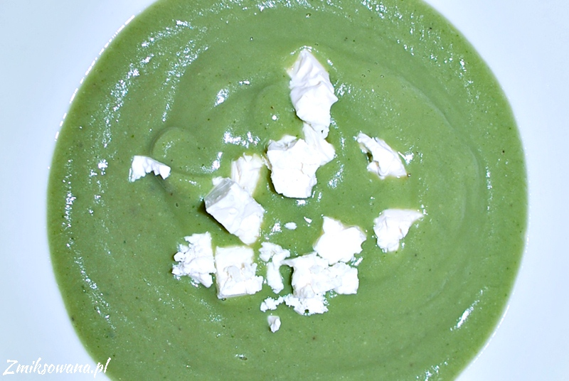 Krem z bobu i brokułów