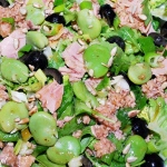 Sałatka z bobem i tuńczykiem