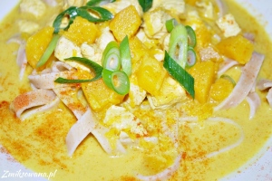 Zupa z dynią i kurczakiem