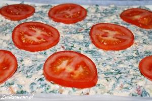 Ciasto francuskie szpinak ser pomidory