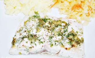 Ryba z czosnkiem i ziołami
