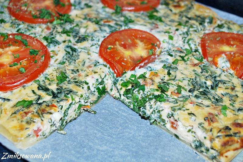 Tarta francuska ze szpinakiem i pomidorami