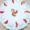 Tort z rabarbarem i truskawkami